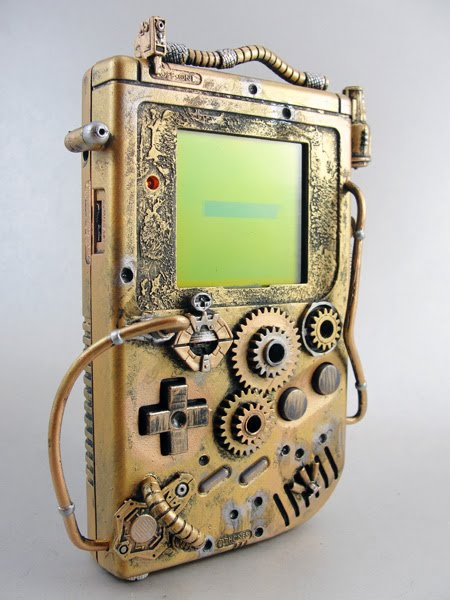 Steampunk Game Boy - Thretris