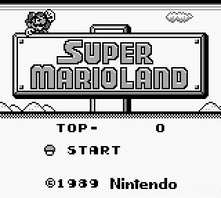 Super Mario Land Title